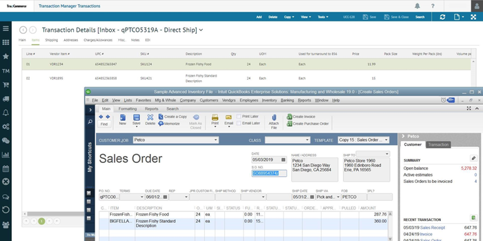 TrueCommerce EDI and eCommerce Integration for QuickBooks by