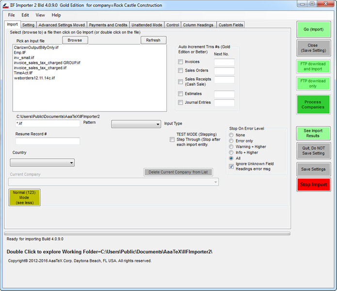 IIFImporter2 by AaaTeX Corp | Apps for QuickBooks Desktop
