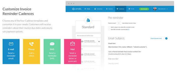 Armatic By Armatic Apps For QuickBooks Desktop Marketplace - Quickbooks invoice reminders