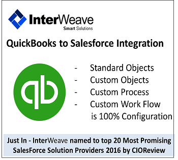 InterWeave QuickBooks to Salesforce Integration by InterWeave Smart