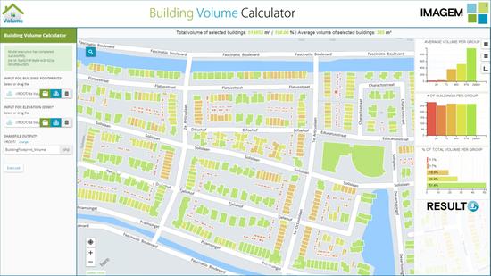 building volume calculator by imagem hexagon geospatial