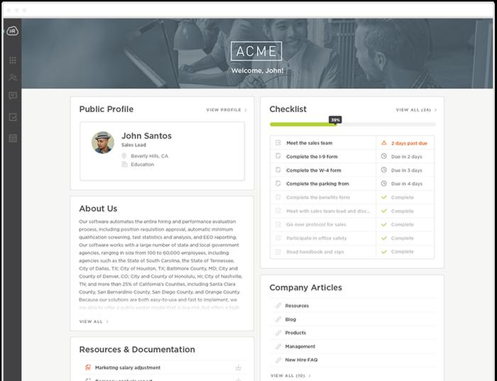 Configurable New Hire Portal & Branded Hub