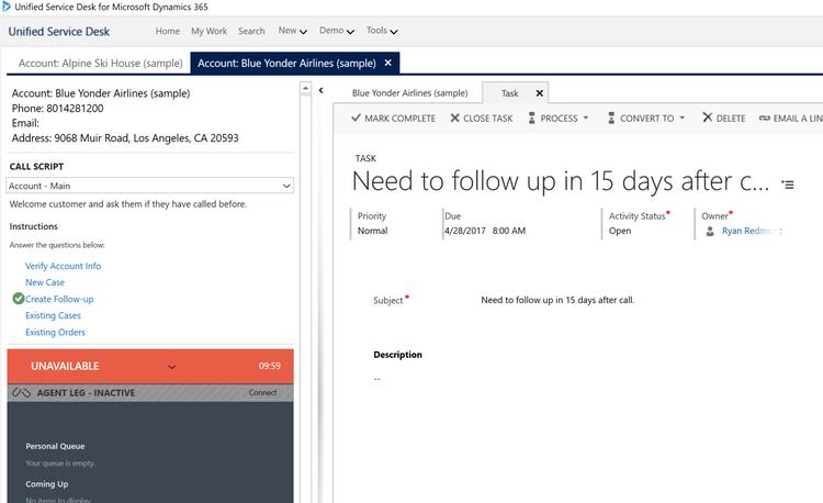 Microsoft Unified Service Desk (