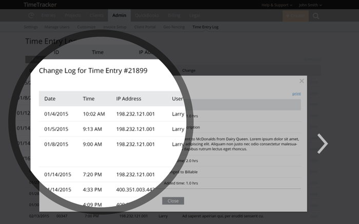 time tracker for run powered by adp by ebillity adp marketplace