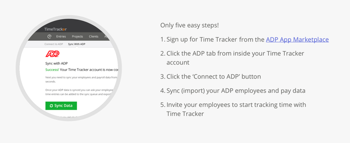 Time Tracker for ADP Workforce Now®