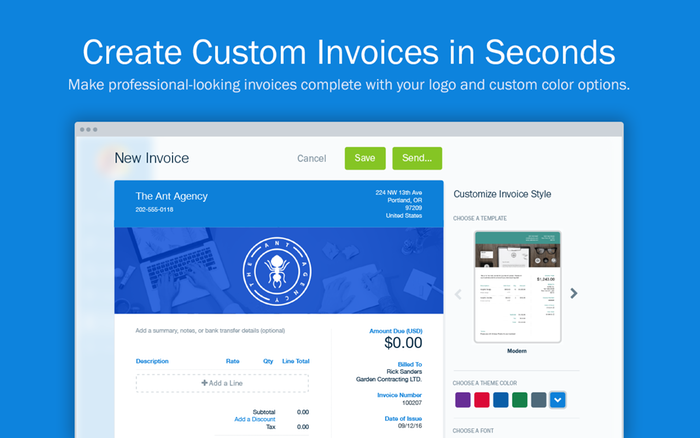 Ridiculously Easy Invoicing