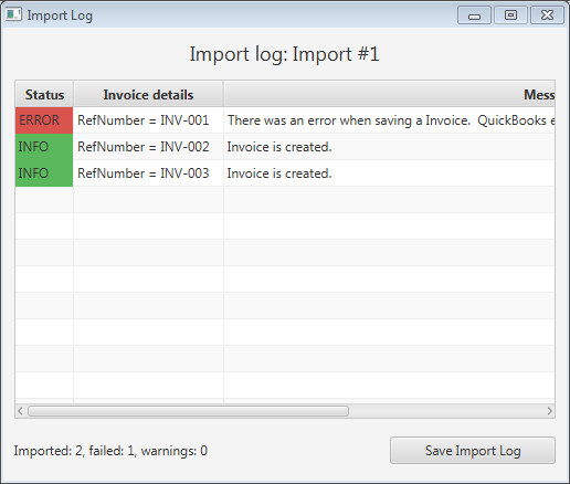 Business Importer By Cloud Business LLC Apps For QuickBooks - Import invoices into quickbooks
