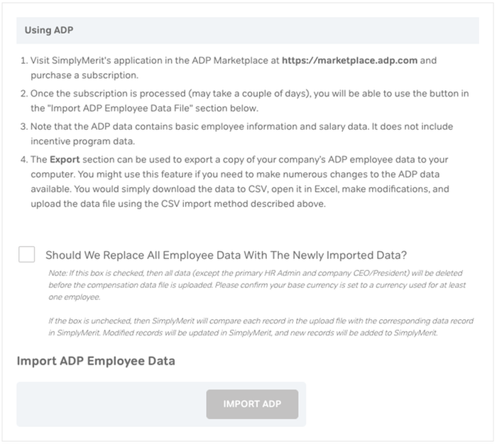 Integrated with ADP WFN