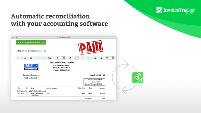 Sync with your invoicing software