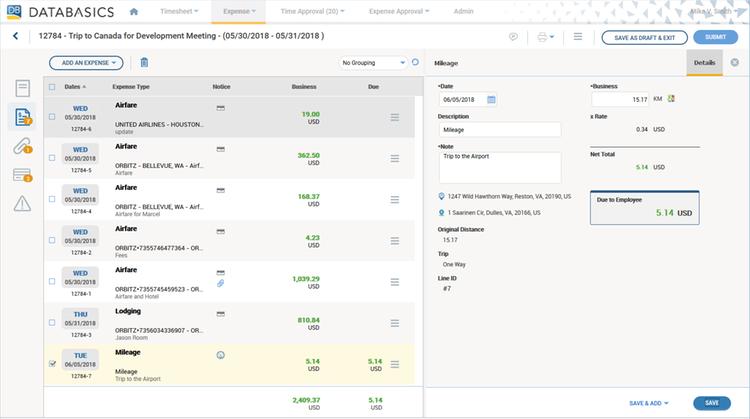 databasics expense by databasics inc adp marketplace rh apps adp com