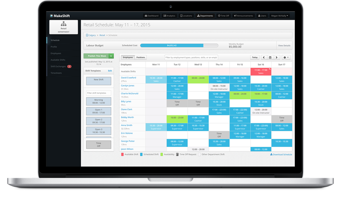 MakeShift for ADP Workforce Now® Essential Time by AppColony