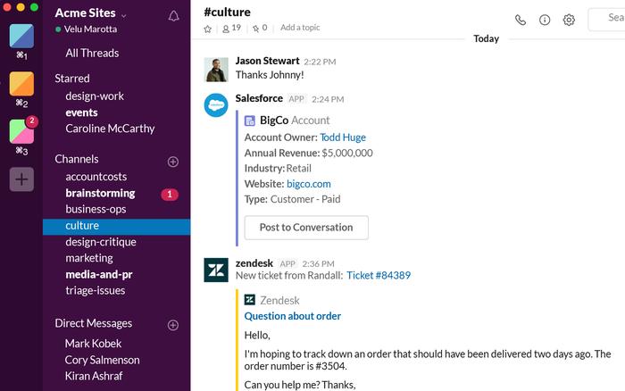 Seamless Integration with Slack