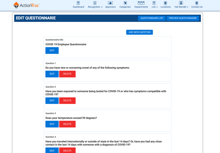 COVID-19 Employee Health Questionnaire Solution
