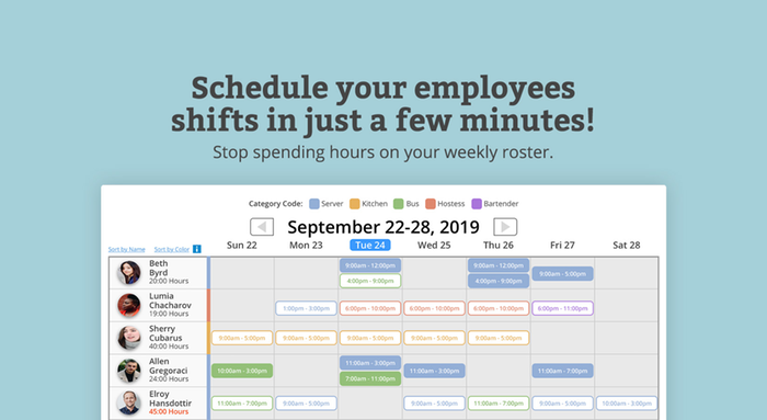 Schedule employee time