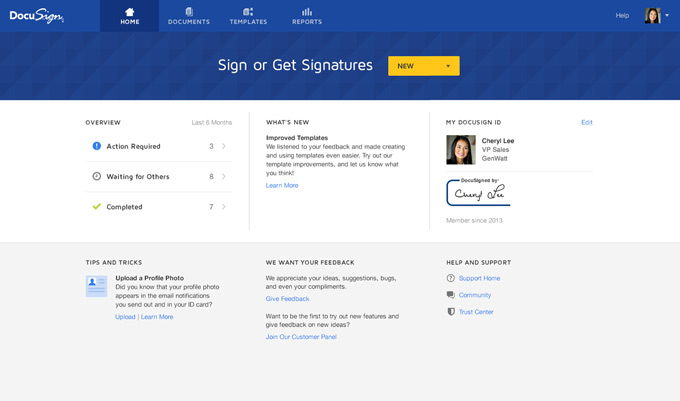 DocuSign getting started