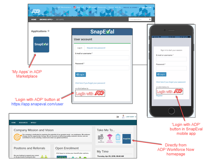 snapeval for adp workforce now by snapeval llc adp marketplace