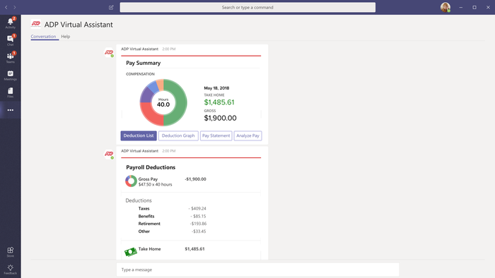 Pay Summary Features