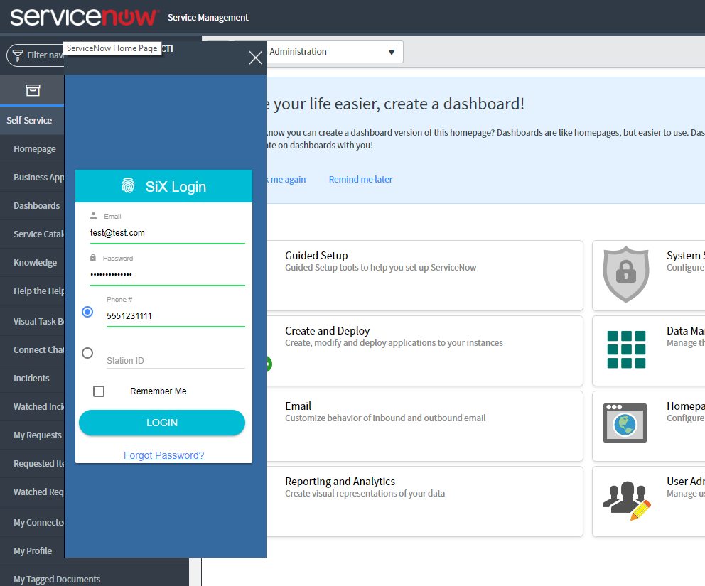ServiceNow Integrated NICE inContact Agent by Skybox Communications