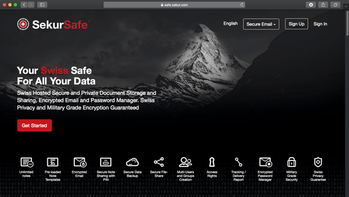 Swiss Secure Data and Email Management