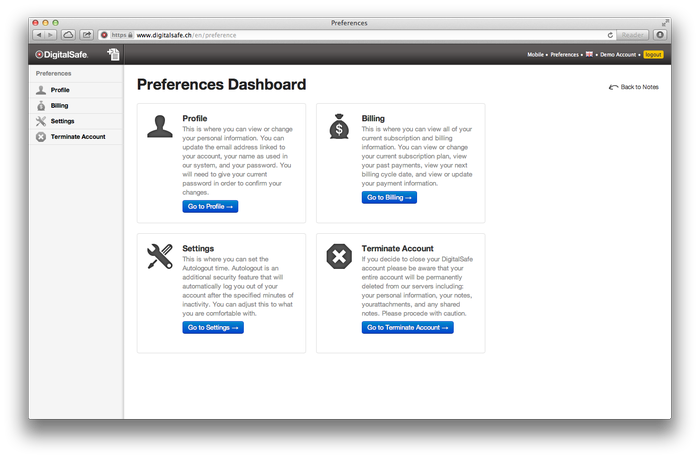 Flexible profile management