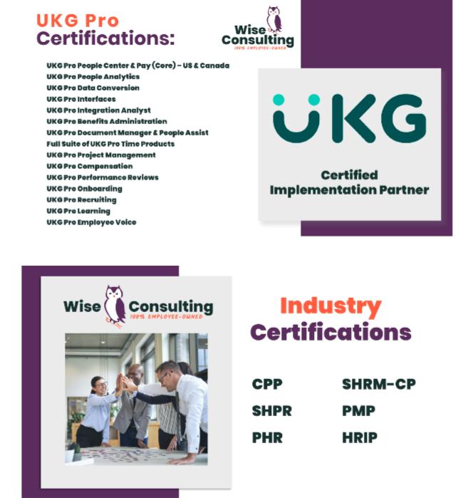 UKG Pro™ & Industry Certifications