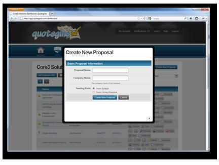 Online Proposal Management Features