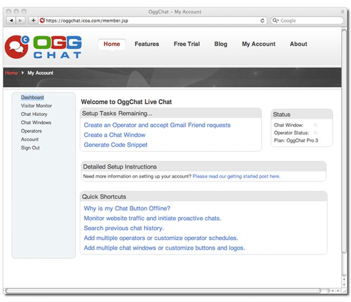 OggChat Dashboard