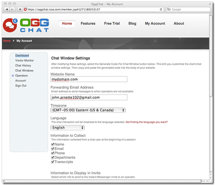 Creating a Chat Window