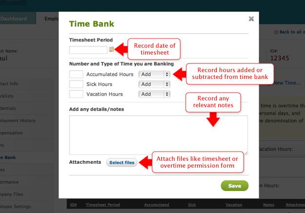 Time Bank Module