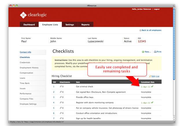 Checklist Module