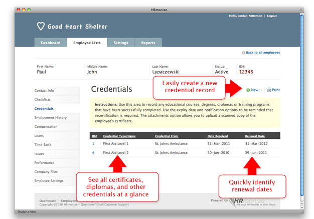 Credentials Module