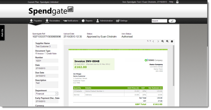 Upload, Code & Review All Invoices Online