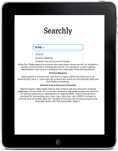 Full text search with Searchly