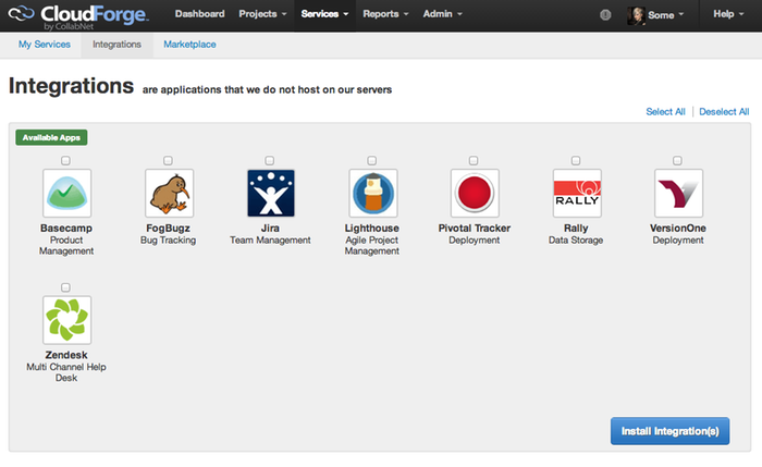 Integrate your systems with best-of-breed tools such as JIRA, Rally Software, Basecamp, and Box